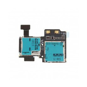 Flex con conector de tarjeta SIM y tarjeta de memoria Micro SD  S4 LTE I9505/S4 VE I9515