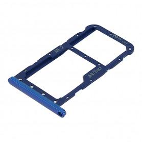 Bandeja porta tarjeta Sim y MicroSD para Huawei P20 -Azul