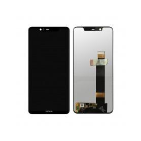 Pantalla completa color negro para Nokia 5.1 Plus / Nokia X5 2018