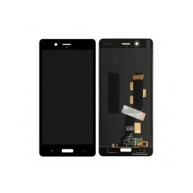 Pantalla LCD más táctil color negro para Nokia 8 2017